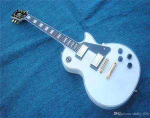 Envío gratis brinkley 2018 alineación personalizada hardware de oro blanco guitarra eléctrica chibson, diapasón de palisandro guitarra de lujo