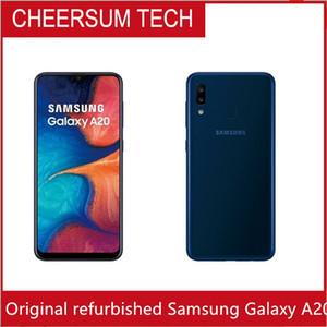 """Kilidi Orijinal Samsung Galaxy A20 Cep telefonu 6.4"""" inç Octa çekirdekli 3 GB RAM 32GB ROM Android 9.0 4000 mAh pil"""