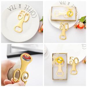 Altın düğün Hediyelik Eşya dijital 50 şişe açacağı 50th doğum günü yıldönümü hediye konuk Parti Favor için 100 adet T1I1711