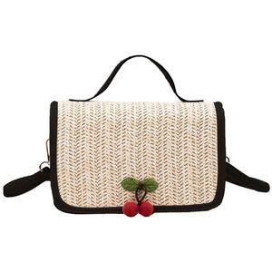 New Elegant Shoulder Bag Women Wild Simple Messenger Bag For Girls Fashion Small Square Beach Straw Braided Woven New #LR4