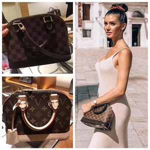 Designer coquille Femmes sac à main ALMA BB sac poignée sacs mignons Monogramme en cuir verni Sac à bandoulière Cross Body Bag