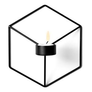 21см подсвечники скандинавский стиль 3D геометрический подсвечник металлический настенный подсвечник бра соответствия небольшой Tealight украшения для дома