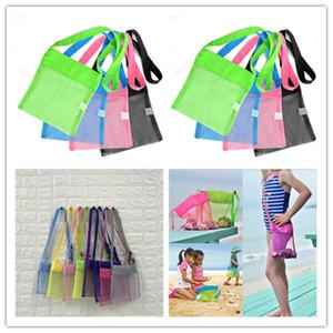 Kid malha Bolsa de Praia Bloco de Fanny Sand Bags Totes Shell Toys Collector Storages Bag Criança Boy Girl Sandboxes Shoulder Bag Mochilas Bolsa B5161