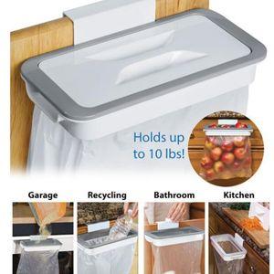 Garbage cozinha Bag armazenamento Rack Fixe o suporte Cupboard Back Door Hanging Gabinete do lixo rack Container de armazenamento Hanger