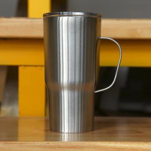 20 once Bicchiere con manico in acciaio inox Viaggi Tumbler isolato tazza di caffè doppia parete d'acqua della tazza di caffè per la Home Office