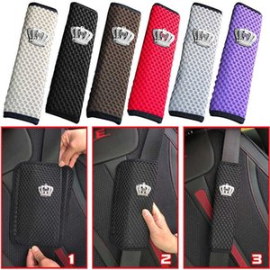 Universal Crystal Crown Car Seat Belt Cover Hand Brake Gear Cover Auto Seat Belt Shoulder Pad Car Styling Suits For All