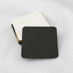 50pcs 5x5cm Necklace and Earrings Display Cards Earring Card Holder Necklace Tags Displaying Hanger for Hanging Necklaces