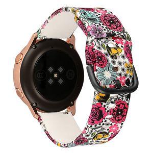 Модные аксессуары для часов Samsung Galaxy Watch 42mm / Active 40mm Замена Силиконовый браслет ремешок Пряжка Дышащий