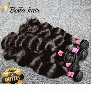 Brazilian Body Wave Virgin Human Hair Weave Bundles 3pcs lot Natural Color 9A Hair Extensions DHL Fast Free Shipping Bellahair