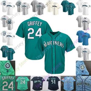 Seattle Jersey 24 Ken Griffey 51 Ichiro Suzuki 9 Dee Gordon 15 Kyle Seager 17 Mitch Haniger 20 Vogelbach 18 Yusei Kikuchi 99 Taijuan Walker
