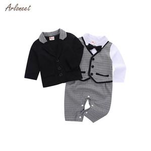 ARLONEET 2019 طفل رضيع ملابس الطفل الرضيع بذلة القطن أطفال الأولاد ملابس الأطفال شهم الملابس مجموعات عيد الميلاد