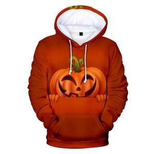 Halloween Bat Menshoodies-Winter-Thick 3D Digital Printed Langarm-Kapuzen Paare Sweatshirts Mode Mens Designer Hoodies