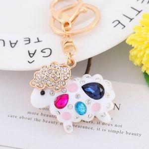 Factory direct supply cute zinc Ally sheep accessories design children 3d keychain