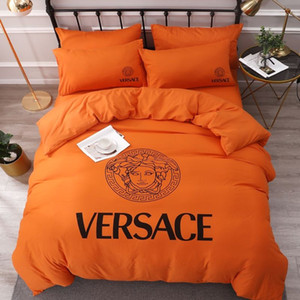 Branded Warm Cotton Home Textile Soft Bedding Set Bed Solid Duvet Cover Asian Size Quilt Cover Brief Bedclothes