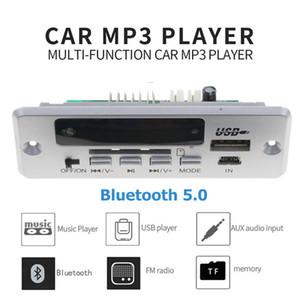 USB 3.5mm AUX Bluetooth Radio FM V5.0 Receptor inalámbrico Reproductor de MP3 5V 12V Mp3 Decodificador Módulo de tarjeta 1 Din Music Speaker Car Kit