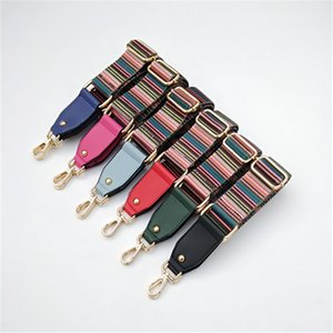 Fashion Colorful Bag Strap Belt Flower Replacement Wide Straps for Crossbody Bag Accessories Nylon Shoulder Strap for