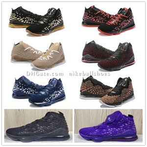 mens baratos que os lebron 17 tênis de basquete MVP Championship Na Arena Oreo preto roxo ouro LeBrons james xvii sneakers botas com caixa