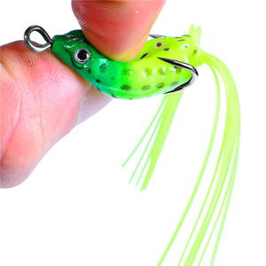 New simulation frog Hollow Body Popper bait 3.5g 4cm Topwater Fishing Blackfish Crankbaits Ray Frog Rubber lure