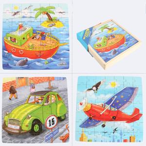 Brinquedos de Aprendizagem Precoce para crianças de crianças Quinquilharia Três-em-Um Quebra-cabeça de Dinossauro de Capa Dura Cute Cartoon Knick-knack de madeira