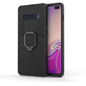 Shockproof Bumper Phone Case For Samsung Galaxy S10 Plus 5G Case Armor Hard PC Stand Phone Cover For Samsung S10 Lite S10E