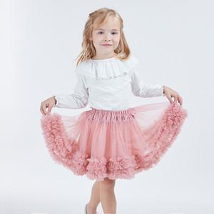 Kids Girls Tutu Skirts Tulle Ruffles Short Pettiskirt Toddler 6 Colors tutu Dance Skirt Party performance Petticoat