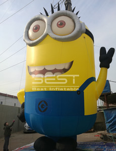 Funny Event 2m Giant Inflatable Minion balloon Cartoon Mascot For Advertising event Popular inflatable character Cute inflatable yellow man