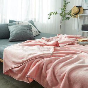 Parkshin Pink Throws Flannel Blanket Soft Winter Elegant Blanket Wrap Family Bedding Super Soft Sleeping Bedspreads 5 Size 1pcs