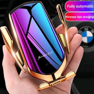 Derece Dönme 10W Hızlı Box ile şarj 360 YENİ Magic R1 Kablosuz Araç Şarj Otomatik Sıkma İçin iphone Android Hava Firar Telefon Tutucu