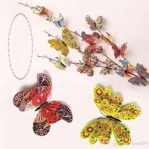 Venda quente jogo de quarto colorido simulação borboleta DIY adorno estereoscópica Butterfly Home decoração Artesanato brinquedos T3I0104