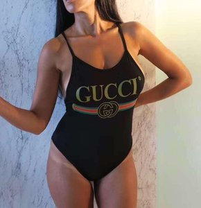 Venda quente Swimwear Designer de Moda Cruz Sling Carta Imprimir Bikini Swimsuit Bandage Sexy de banho de uma peça Suit S-XL 595