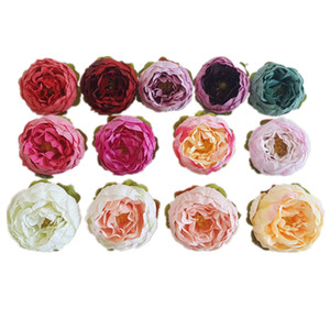 5cm Artificial Flowers For Wedding Decorations Silk Peony Flower Heads Party Decoration Flower Wall Wedding Backdrop