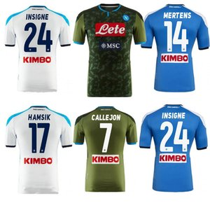 2019 Napoli Fußball-Trikot Herren HAMSIK Gabbiadini MERTENS MILIK INSIGNE CALLEJON Allan Zielinski Neapel anpassen Fußball-Hemd 19/20
