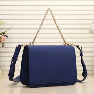 Los nuevos bolsos de las señoras de la alta calidad de la PU de seis colores pequeña bolsa cuadrada grandes letras pu cadena de decoración bolsa de hombro