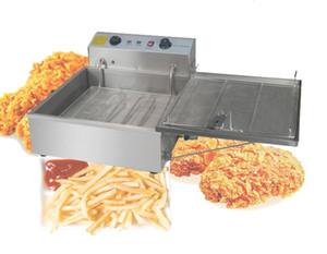 وصول جديد 25L المقلاة الكهربائية التلقائي، دونات آلة القلي، والاستخدام التجاري الفولاذ المقاوم للصدأ بطاطس محمرة المقلاة