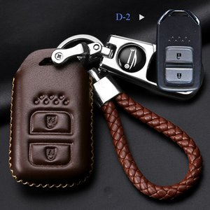 Protector de la llave del coche de cuero genuino para Honda Civic XRV CRV URV Accord Odyssey Fit VEZEL CRIDER Metal Auto parts Key Case