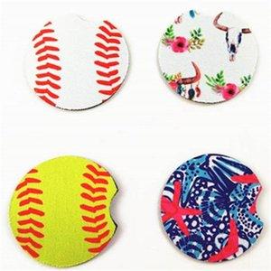 Copa do teste padrão da bola de futebol canecas Mat Circular Printing Rubber Mouse Pad amigável Partido Eco desenhos animados Favor 1 6NY E1