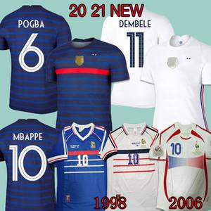 2020 Camisa de Futebol  France soccer jersey POGBA GRIEZMANN camisa de futebol KANTE GIROUD camisa de futebol camiseta de futebol 98 06 Retro France Djorkaeff Henry Deschamps