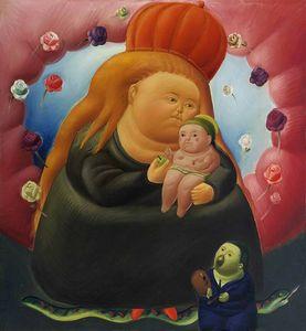 Açık Tuval Wall Art Canvas Resimler 200.205 Boyama Fernando Botero Meryem Ev Dekorasyonu El Sanatları / HD Baskı Yağ