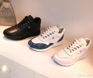 2019 hot new zz Party Wedding Shoes uomo donna scamosciato nero con punte a punta nere sneakers basse, design scarpe causali Taglia 35-45