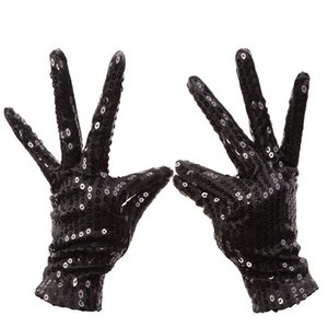 1 Pair Michael Jackson Sequined gloves Evening Party Costume Gloves dance at the kindergarten's Kids Gloves 5colors 10.9