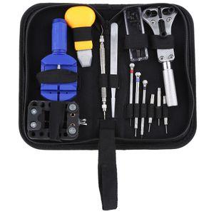 13pcs Assista Repair Tool Kit Set Watch caso abridor Fazer a ligação Primavera Bar removedor de chave de fenda pinça Relojoeiro dispositivo dedicado