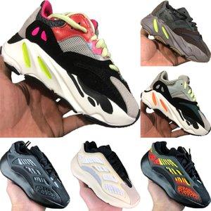 2020 Azael 700 V3 Static Reflective Kids Mesh Breathable Running Shoes Original Kanye West 700 V2 Kid Buffer Rubber Jogger Shoes