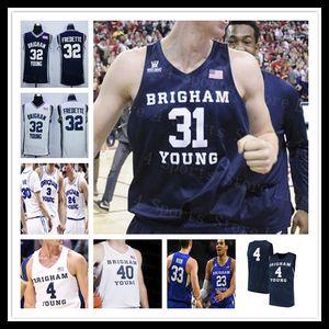 2020 Brigham Young Cougars Basketball BYU Jersey College Yoeli Childs TJ Haws Jake Toolson Alex barcello Dalton Nixon Seljaas Harding 4XL