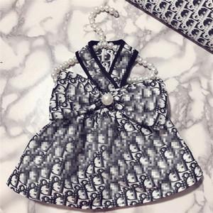 Personalidad de peluche del encanto Vestidos Calle encantador del verano Festival de animal doméstico del vestido elegante del patrón de Bichon Schnauzer Ropa
