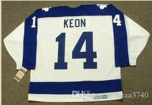 mulheres costume Homens Jovens Vintage # 14 DAVE KEON Toronto Maple Leafs CCM Hockey Jersey Tamanho S-5XL ou personalizado qualquer nome ou número