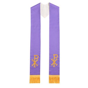 1PC Priest Reversible Stole with PX Embroidery Church Vestments Chasuble Stole