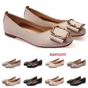 Bon marché dames lager Chaussures plates taille 33-43 femmes fille nue en cuir gris noir Nouveau arrivel mariage Groupe de travail chaussures robe treize