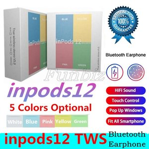 Macaron inPods 12 TWS Bluetooth 5.0 Wireless Stereo Bass Earphone Twins Sports inpods12 Earbuds Candy Colors inPods12 Headphone i12 earphone