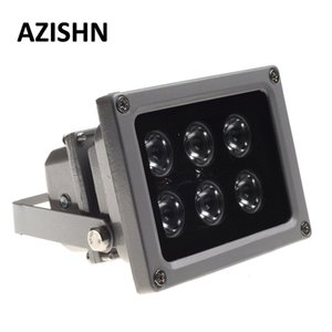 Proteção de Segurança AZISHN CCTV LEDS IR iluminador lâmpada infravermelha 6pcs matriz de LEDs IR impermeável ao ar livre Fill Night Vision CCTV Luz para
