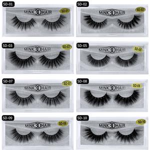 SD Série unique paire de cheveux de vison 3D faux cils de vison pur cils épais affûtage multi-couches boîtes de gros lot de vulgarisation